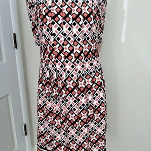 Xl multi pattern short sleeve dress